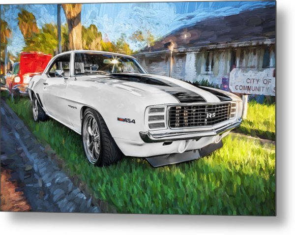 1969 Chevy Camaro Rs Painted  Metal Print