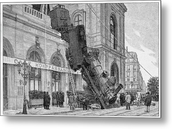 19th Century Railway Accident Metal Print by Cci Archives