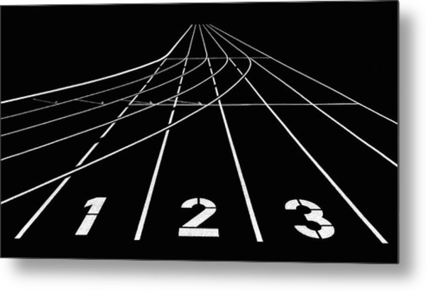 1 2 3 Metal Print by Hans Martin Doelz