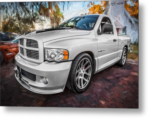 2004 Dodge Ram Srt 10 Viper Truck Painted Metal Print