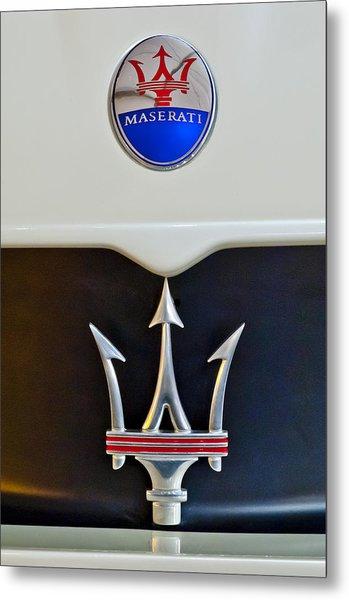 2005 Maserati Mc12 Hood Emblem Metal Print