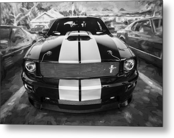 2007 Ford Mustang Shelby Gt Painted Bw   Metal Print