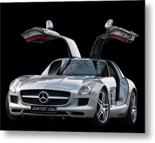 2010 Mercedes Benz Sls Gull-wing Metal Print