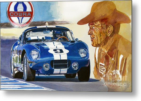 64 Cobra Daytona Coupe Metal Print by David Lloyd Glover