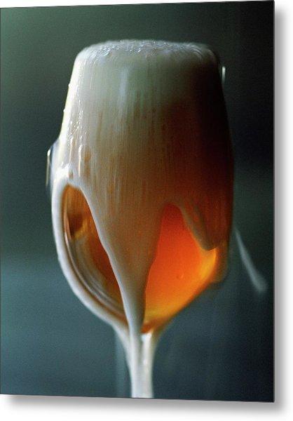 A Glass Of Beer Metal Print