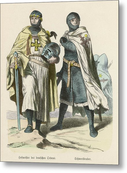 A Grand Master Of The Teutonic  Knights Metal Print by Mary Evans Picture Library