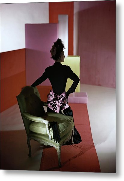 A Model Wearing A Schiaparelli Dress Metal Print by Horst P. Horst