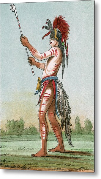 A Sioux Warrior Wearing Body Paint Drawing By Mary Evans