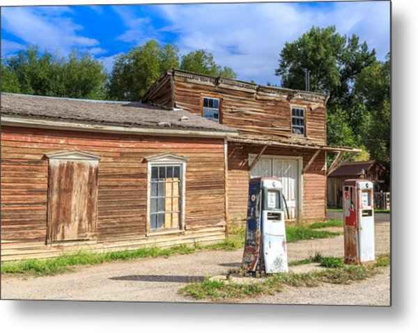 Abandoned Mining Buildings Metal Print
