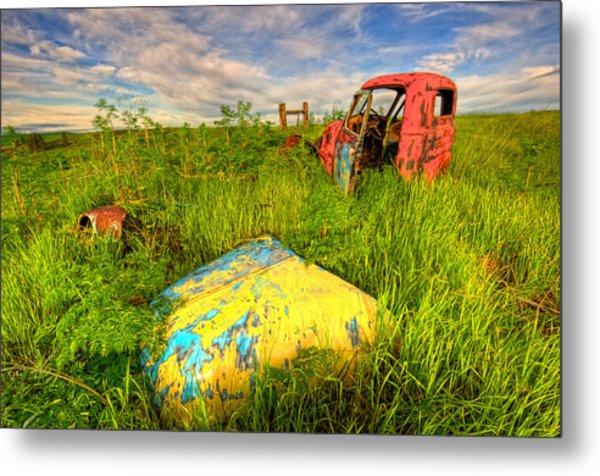 Abandoned Rusting Truck Metal Print