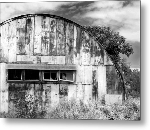 Abandoned Ww2 Quonset Hut Metal Print