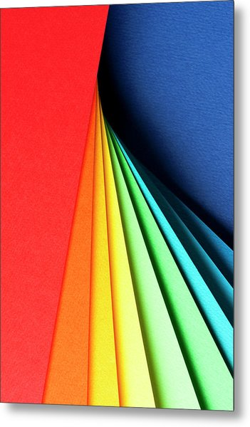 Abstract Background With Color Papers Metal Print by Colormos
