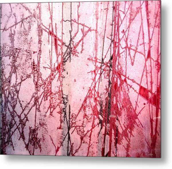 Abstract Frost Photo Metal Print