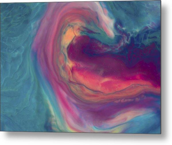 Abstract Liquid Background Metal Print by Yulia Reznikov