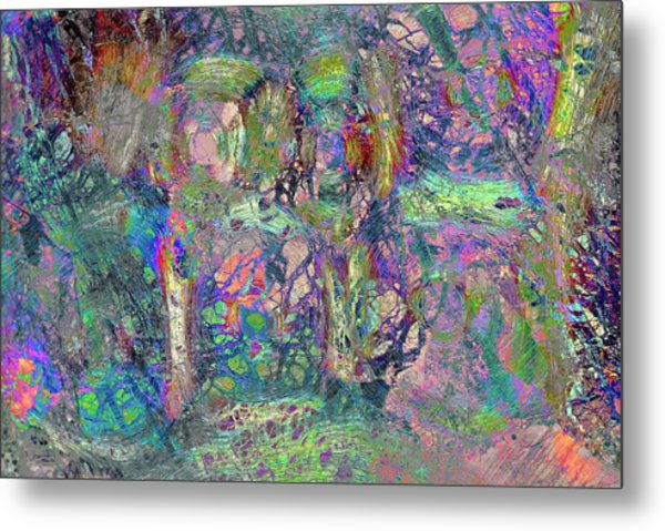 Abstract Polarised Light Micrographs Metal Print by Steve Lowry