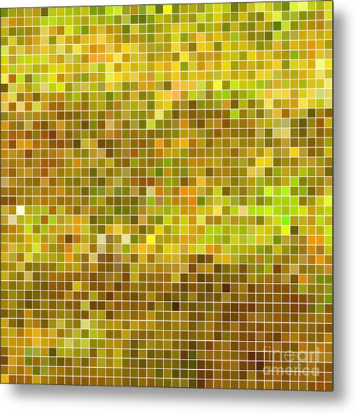 Abstract Vector Square Pixel Mosaic Metal Print
