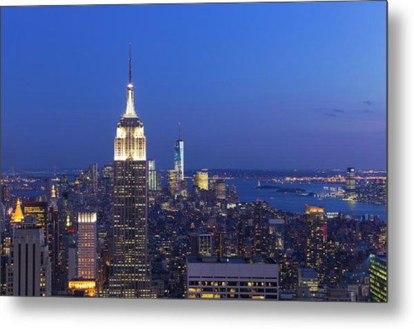 Aerial View Of Empire State And Midtown Metal Print by Future Light