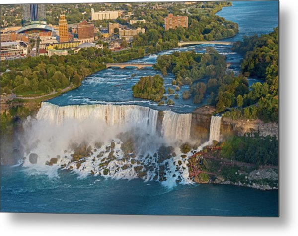 Aerial View On Niagara Falls From Skylon Tower Metal Print