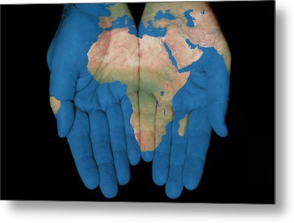 Africa In Our Hands Metal Print