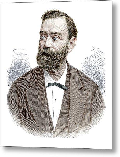 Alfred Nobel Metal Print