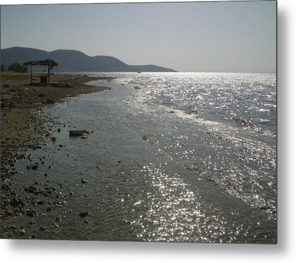 Alyki Beach  Metal Print by Katerina Kostaki