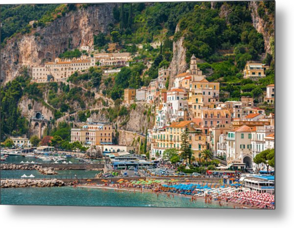Amalfi City Metal Print