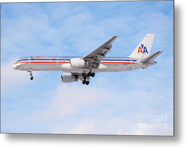 Amercian Airlines Boeing 757 Airplane Landing Metal Print