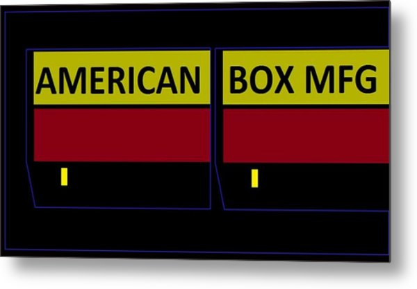 American Box Mfg Metal Print
