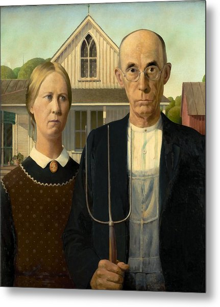 American Gothic Metal Print