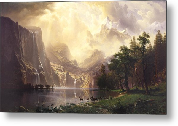 Among The Sierra Nevada Mountains California Metal Print