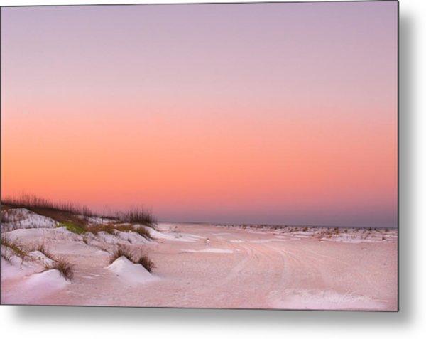 Anastasia Beach Sunset Metal Print