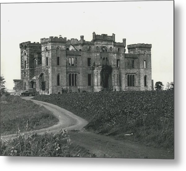 Ancient Castle Goes Up In Smoke. Blown Up By 500 Of Metal Print by Retro Images Archive