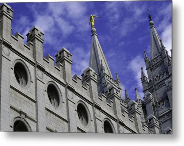 Angel On The Temple Metal Print