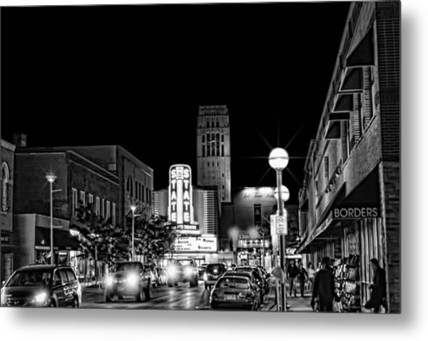 Ann Arbor Nights Metal Print