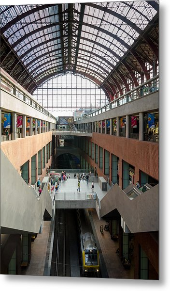 Antwerp Central Station Metal Print