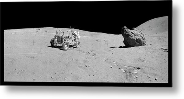 Apollo 16 Lunar Rover Metal Print by Nasa/detlev Van Ravenswaay