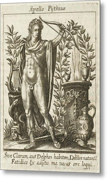 Apollo Pythias, The Greek God Metal Print by Mary Evans Picture Library