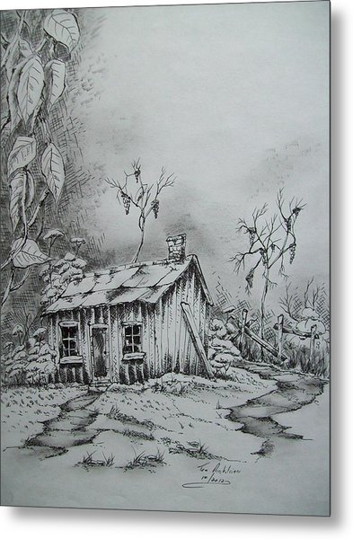 Appalachian Old Shed Metal Print by Tom Rechsteiner