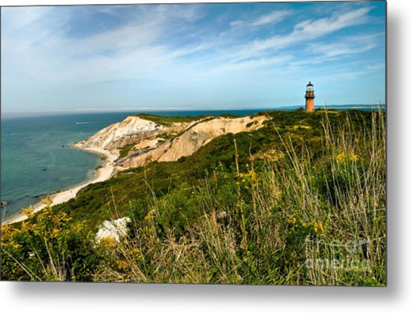 Aquinnah Gay Head Lighthouse Marthas Vineyard Massachusetts Metal Print