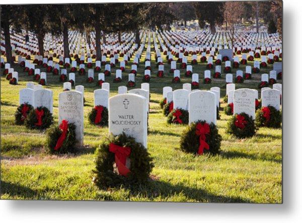 Arlington Cemetery Wreaths Metal Print