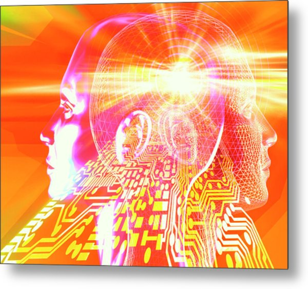 Artificial Intelligence Metal Print by Alfred Pasieka/science Photo Library