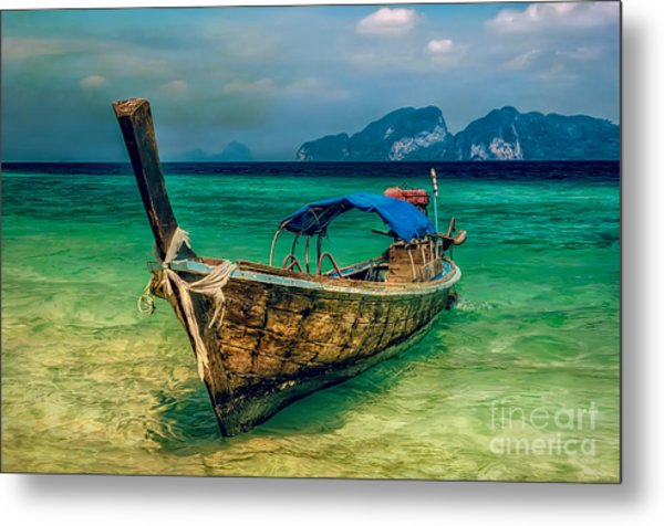 Metal Print featuring the photograph Asian Longboat by Adrian Evans