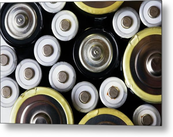 Assorted Batteries Metal Print