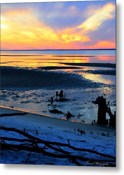 At A Days End Metal Print