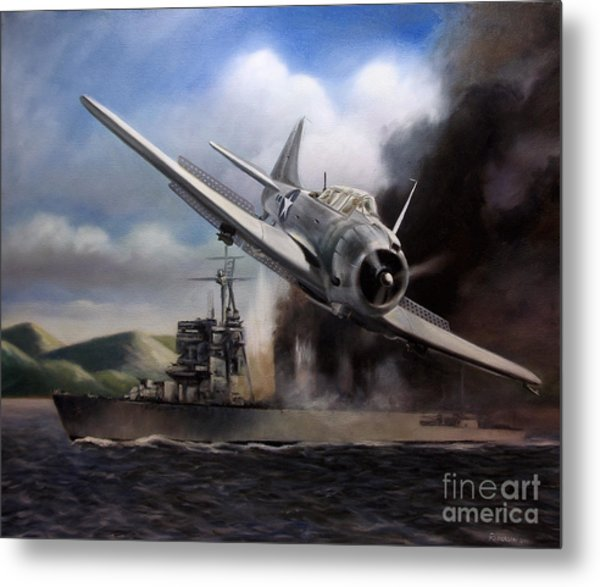 Attack On The Yura Metal Print by Stephen Roberson