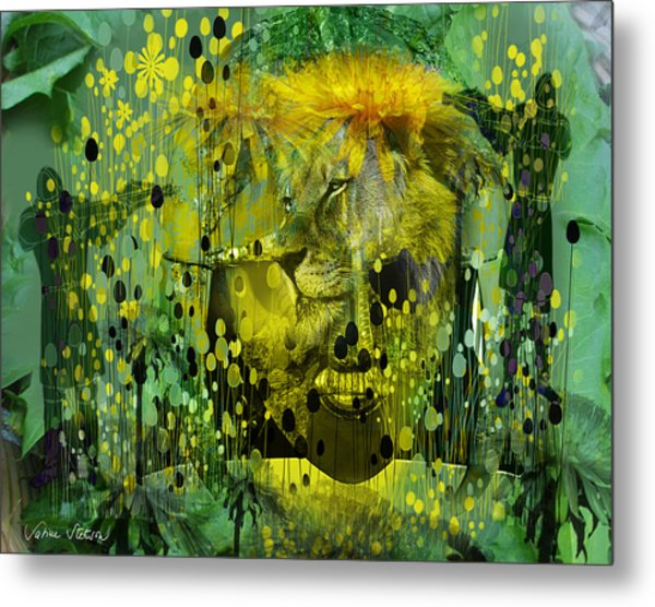 Attacking The Dande-lion Metal Print