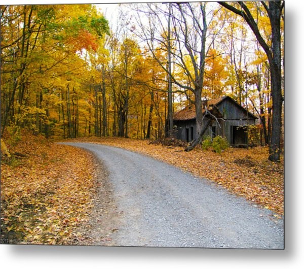 Autumn And The Old House Metal Print