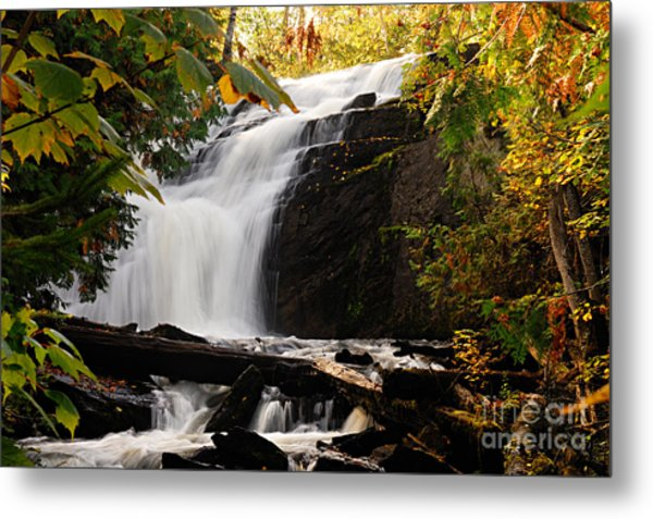 Autumn At Cattyman Falls Metal Print
