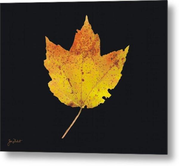 Autumn Mountain Maple Leaf Metal Print