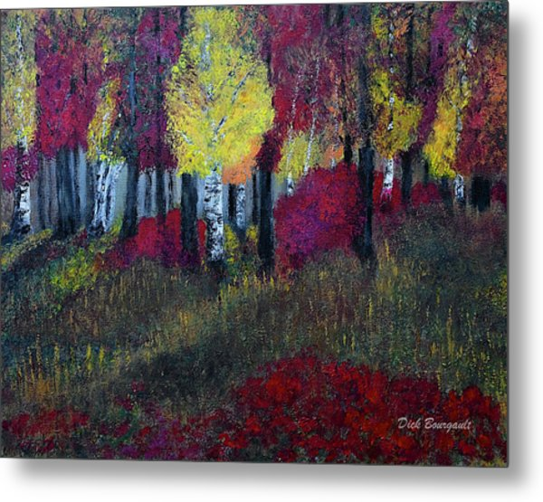 Autumn Peak Metal Print